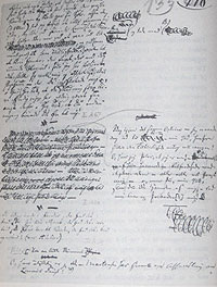 A Page from the Journals